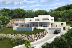 Sitges sea view villa for sale HS144FS