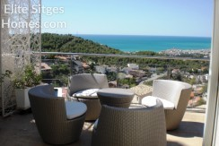 Stunning modern sea view Sitges villa for sale HS153FS